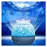YXCKG Proyector LED De Cielo Estrellado, Proyector De Estrellas Galaxia, Bluetooth Y Control Remoto, Luz Nocturna Infantil, Fiesta De Luces De Proyector De Cumpleaños De Navidad, Luz Decorativa