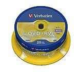 Verbatim 43489 DVD+RW, 4.7 Gb, 4x, Spindle, 25 Pezzi...
