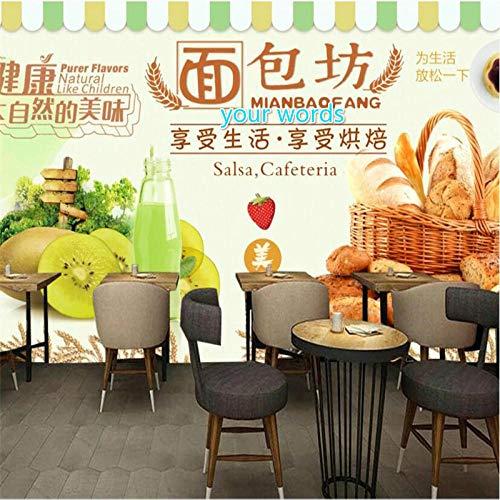 Moderne Grüne Gesunde Vollkornbäckerei Frisch Gepresster Saft Hintergrund Wandbild Tapete Bäckerei Shop Dekor Tapete 3D-250 * 175Cm
