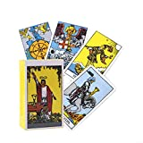 mofeng 78Pcs/Set Tarot Cards Classic Tarot Deck Travel Card Power Deck with Guide
