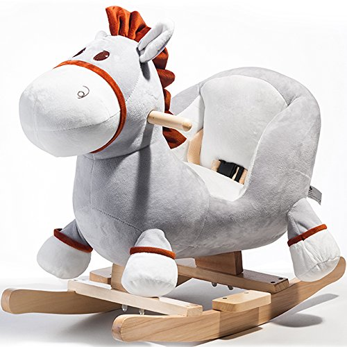 Xueliee Children Rocking Horse Animal Toys Dinosaur Soft Safe for Toddlers Kids Baby Toy