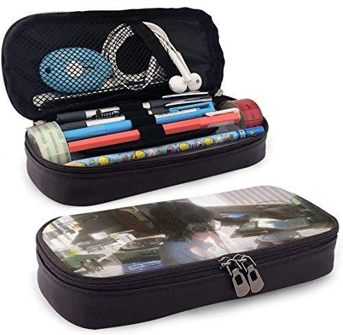 Federmäppchen Große Kapazität Hohe Kapazität Stift Bleistift Tasche Schreibtisch Organizer Tragbare Tasche Halter mit Reißverschluss für Schule & Büro - 7,88x3,54x1,58 Zoll - Anime Girls mit Headsets