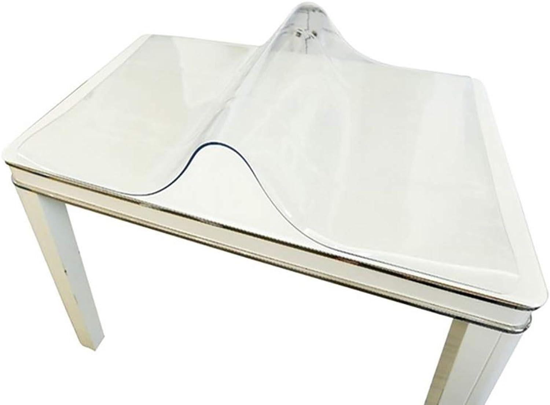cómodamente Mantel Transparente Transparente Transparente de PVC ultraplano, plástico Blando Mantel desechable Impermeable Película Projoectora (Talla   70  140cm)  diseñador en linea