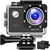 Victure AC400 Action Cam 1080P Full HD Unterwasserkamera wasserdichte 30M Sports Helmkamera mit kostenlosen Montage Zubehör Kits