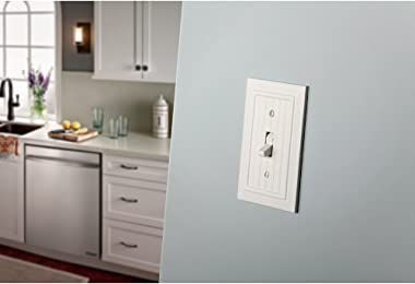 Franklin Brass W35269-PW-C Classic Beadboard Switch/Duplex Wall Plate/Switch Plate/Cover, Pure White