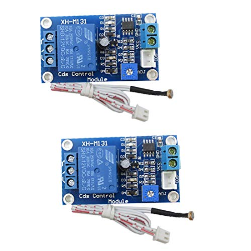 HiLetgo 2pcs 12V Photoresistor Sensor Relay Module Car Light Automatic Control Switch with Cable