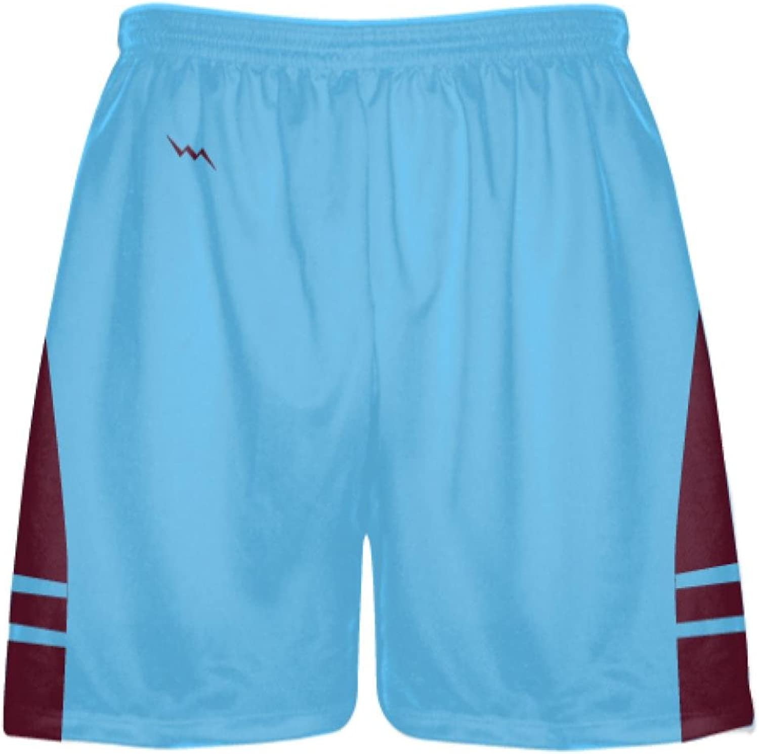 LightningWear Powder blueee Maroon Lacrosse Shorts  Mens Boy Lacrosse Shorts