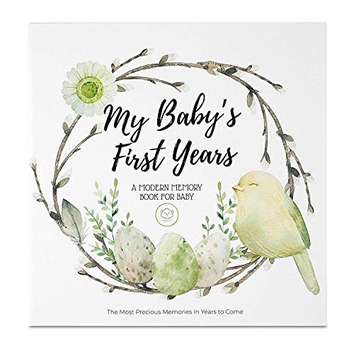 Baby First 5 Years Memory Book Journal - 90 Pages Hardcover First Year Keepsake Milestone Newborn Journal for Boys, Girls - All Family, LGBT, Single Mom Dad, Adoptive (Wonderland)