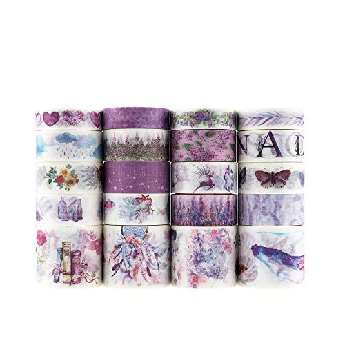 20 pcs Washi tape, Lychii tape decorativo coprente per lavoretti di fai da te, diari, biglietti, schizzi (Set 2)