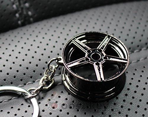 boost-key.com Felge Black-Chrom #77 Schlüsselanhänger - massiver Anhänger - von VmG-Store OEM VAG Dub