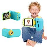 Kids Camera, Kids Digital Video Camera, 1080P HD DV Camcorder 2.4 Inch IPS Screen Toys Camera Birthday for Boys Girls Age 3-8