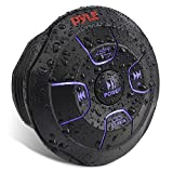 Car Wireless Bluetooth Audio Controller - Bluetooth Media Button Waterproof Rated Marine Receiver Remote Control w/USB, AUX, Mount for Car Truck Boat Marine PowerSport Vehicles - Pyle PLMRBTRD1