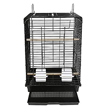 Cages à Oiseaux Voličre pour Oiseaux Voličre Cage Oiseaux (40*40*58 cm, Noir)