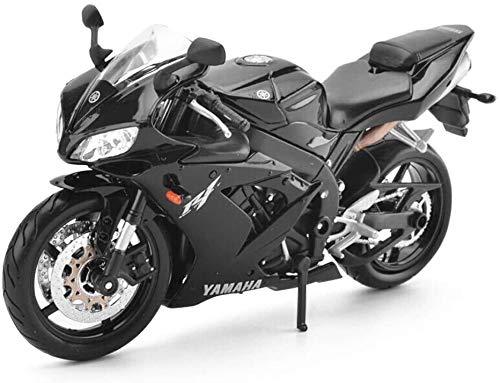 Modelo de la Motocicleta Yamaha YZF-R1 Carretera Locomotora de simulación de aleación de fundición a presión de joyería Juguete joyería Colección del Coche Deportivo (Color : Black)