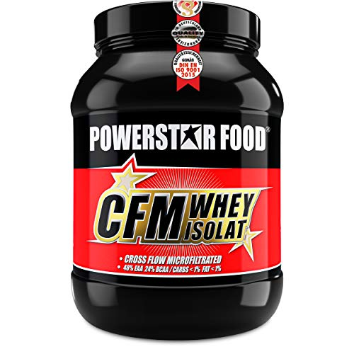 100% CFM WHEY ISOLAT - Whey Protein Isolate aus Weidenmilch mit 98% i.Tr. Proteingehalt - Höchste Qualität - Cross-Flow Microfiltrated - Made in Germany - 1000g (Vanilla, 1000g)