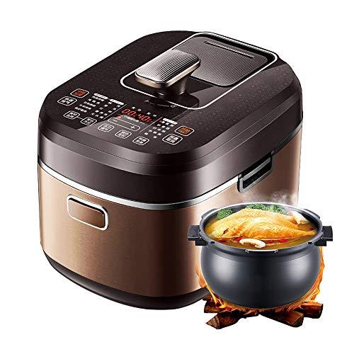 YFGQBCP Robot Cocina Olla de presión Inteligente for Uso doméstico, Aliento Fresco 5l Arrocera Olla de presión, Tridimensional Tecnología de calefacción, Cocina Antiadherente fácil de Limpiar
