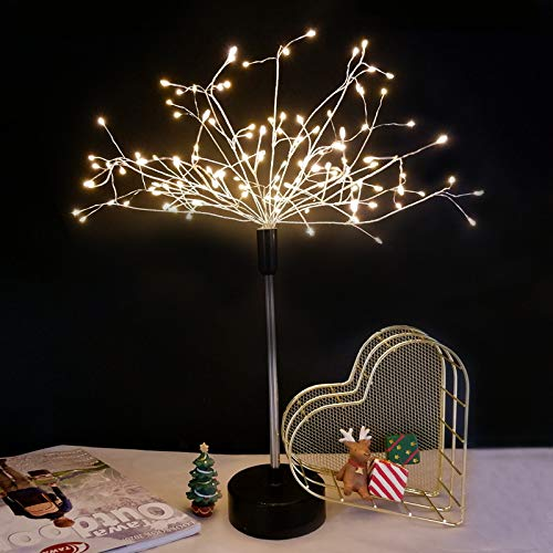 Ligres 2 Pack Seated Firework Tree Light, 120 LEDs Warm White String Lights 8 Flashing Modes Twinkle Star Light for Indoor Bedroom Decoration