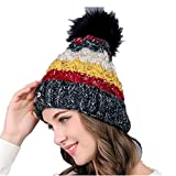 Chickwin Gorras Mujer, Mujer Cable Knit diseño Reloj Cap Go