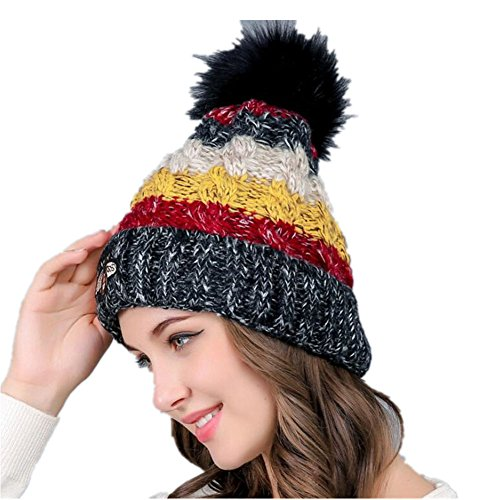 Chickwin Gorras Mujer, Mujer Cable Knit diseño Reloj Cap...