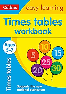 Times Tables Workbook Ages 5-7: New Edition (Collins Easy Learning KS1) from Collins