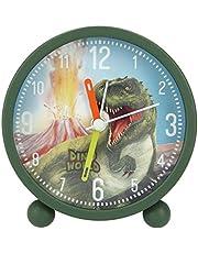Depesche 8838 Dino World - Despertador analógico para niños, Color Verde, silencioso y con función de luz, Funciona con Pilas, Multicolor