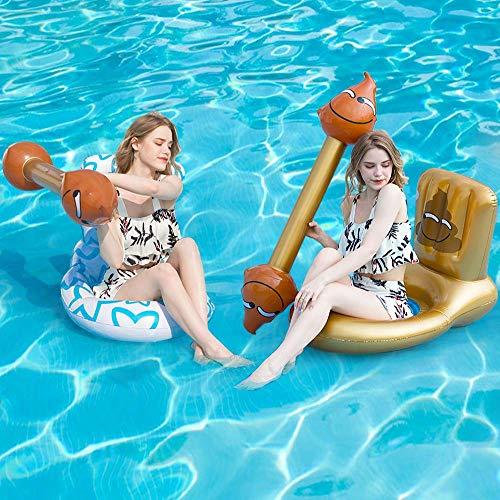 LONEEDY 4PCS kreative und interessante aufblasbare schwimmende Spielzeuge, aufblasbare Hocker, Toilettenschwimmring