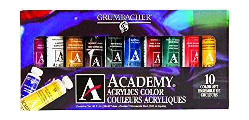 Grumbacher Academy Acrylic Paint, 24ml/0.8 oz Metal Tube,...