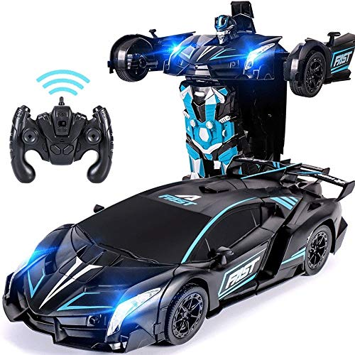 New Woote Kids Remote Control Deformation Car Toy, Electric 360° Rotating Stunt Car Toy Children's ...