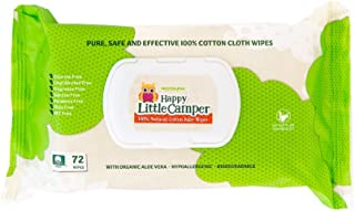 Happy Little Camper x Hilary Duff Gentle Hypoallergenic and dermatologically Tested Natural Cotton Wipes with Organic Aloe...