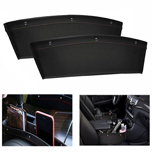 Gearmax® Auto Zubehör Car Seat Seiten Schlitz Taschen Sitz Autositz Seiten Schlitz Taschen füllt Lücken zwischen den Sitzen(Schwarz)