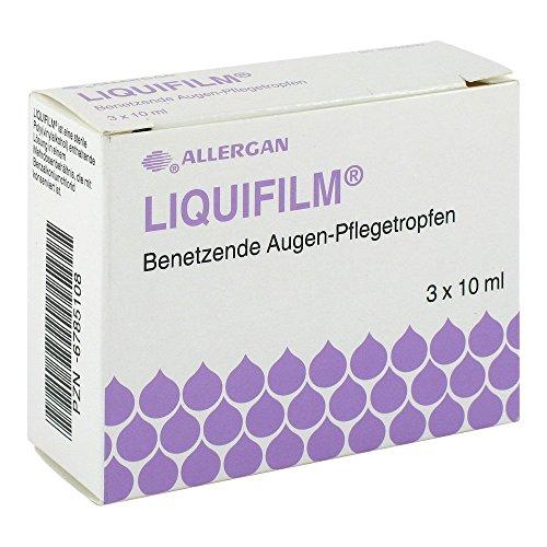 Liquifilm Benetzende Augen Pflegetropfen, 3X10 ml