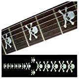 Inlay Sticker Fretboard Position Marker for Guitars and Bass Skulls White Pearl