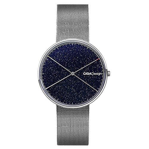 Relojes Mujer Analógico Cuarzo Correa Fina Acero Inoxidable Reloj Simple Puntero Doble de la Misma Longitud Esfera Redonda