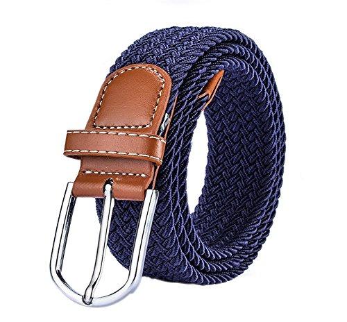 Leisial Cinturón de Lona Ocasional Color Sólido Plástico Cinturones Hebilla de Plástico Deportes al Aire Libre para Hombres Con Elástico Mujer Unisex