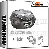 kappa maleta k355nt 35 lt + portaequipaje monolock compatible con yamaha n max...