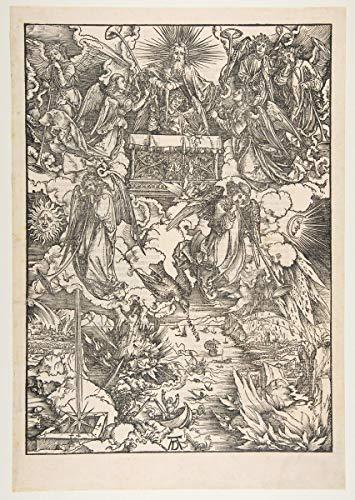 Berkin Arts Albrecht Durer Giclee Lienzo Impresión Pintura póster Reproducción Print(Los Siete ángeles con la Trompeta del apocalipsis) #XFB