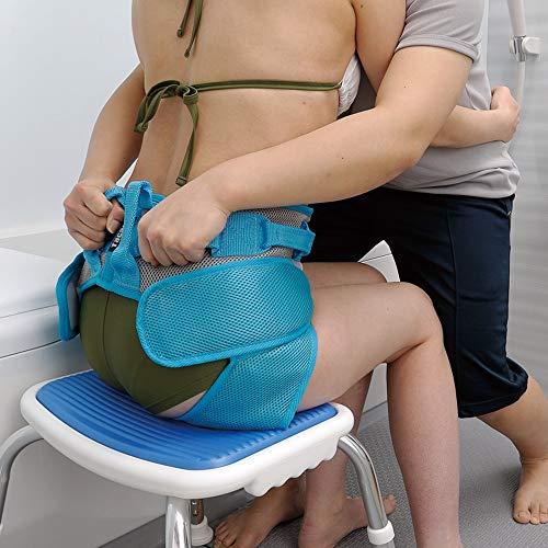 GHzzY Transfergurt mit Beinschlaufen - Medical Nursing Safety Gait Belt für den Transfer von Patienten vom Rollstuhl zum Bett, zur Badewanne, zur Toilette und zum Auto,80CM~100CM
