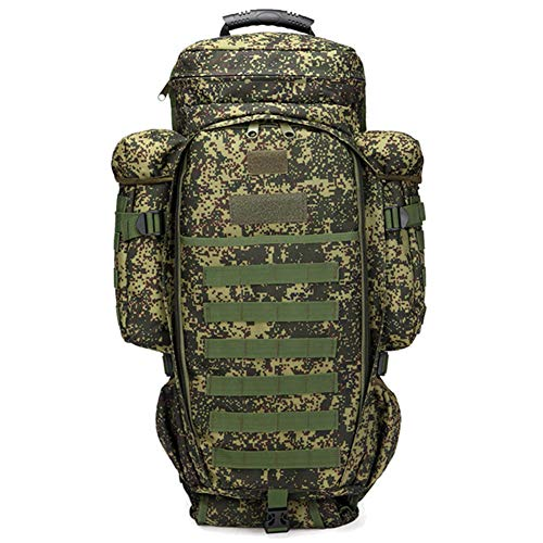 Tactical Backpack Military Molle Rucksack, MLSice Military Backpack Rifle Gun Storage Holder Bug Out Bag Pack 60L Large Capacity Waterproof for Survival Trekking Hiking Fishing - Russian Camouflage