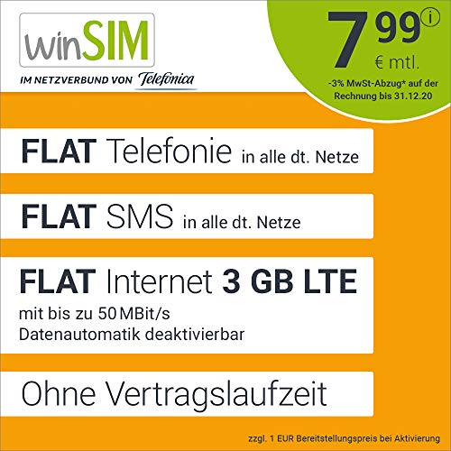 winSIM LTE All 1 GB Allnet Flat