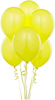 King's deal (Tm) 12 Inches Balloons 100 Pcs Ultra Thickness Latex Balloon(Yellow)