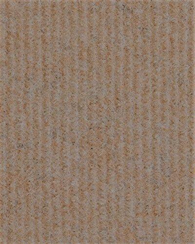 Eventteppich Messeteppich   Rips-Nadelfilz   400 cm Breite   beige   Meterware, 60m Rolle   Größe: 60 x 4m