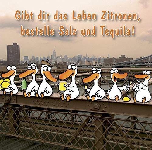 Gibt dir das Leben Zitronen, bestelle Salz und Tequila!: Cartoon-Geschenkbuch zur Motivation um jede Hürde zu Überspringen.