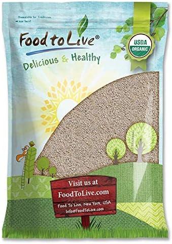 Organic White Chia Seeds 5 Pounds Non GMO Raw Pure Kosher Keto Vegan Superfood Bulk Rich in product image