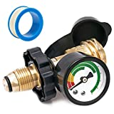 SHINESTAR Upgraded Propane Tank Gauge Level Indicator for 5-100lb Propane Tank, Propane Gauge for Gas Grill, Stove and Other Propane Appliances, POL Connection