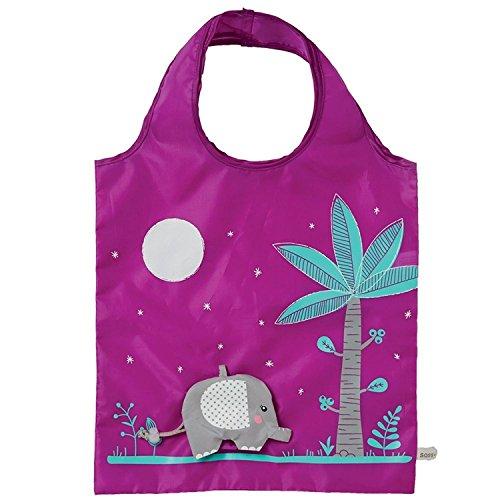 Tasche Shopping Stofftasche Beuteltasche Elefant - 55 x 37 cm