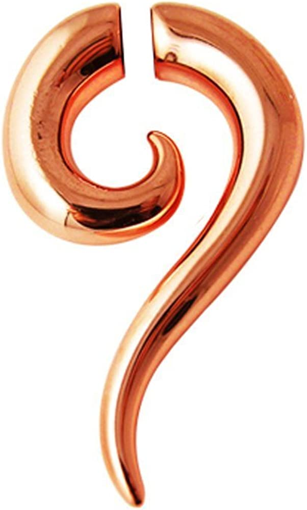 Pink Gold Platting Magnetic Spiral Tribal OFFer by Pair. Sold shopping Ear Plug