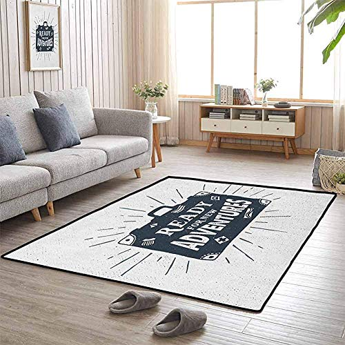 LAURE Tappetino da Campeggio Pronto per Le Nuove Avventure Valigetta Viaggio Viaggio Design a Tema Opera d'Arte Stampa Flagship Carpets
