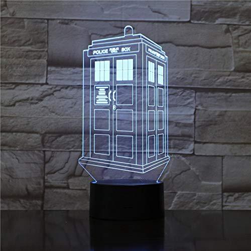 Modellbeleuchtung Der Telefonzelle 3D Nachtlicht Anime Kinder Kind Jungen Zimmer Dekor Acryl Tischlampe Geschenk 7 Farben