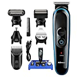 Professional Hair Clipper,MS-5010 5-in-1 Multi Grooming Kit for Beard and Hair with Nose Trimmer Attachment with Set Lock LCD Digital 2 Speed Clipper