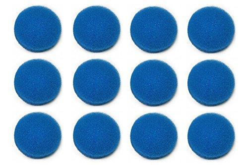 LTWHOME Blauer Rauher Filterschwamm Passend für Eheim ECCO Pro 130/200/300 ECCO 2232/2234/2236(12 Stück)